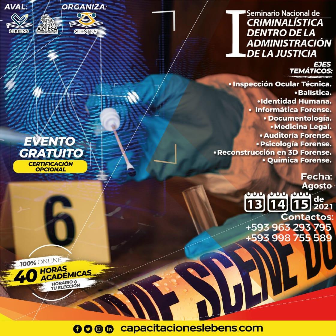 SEMINARIO CRIMINALISTICA