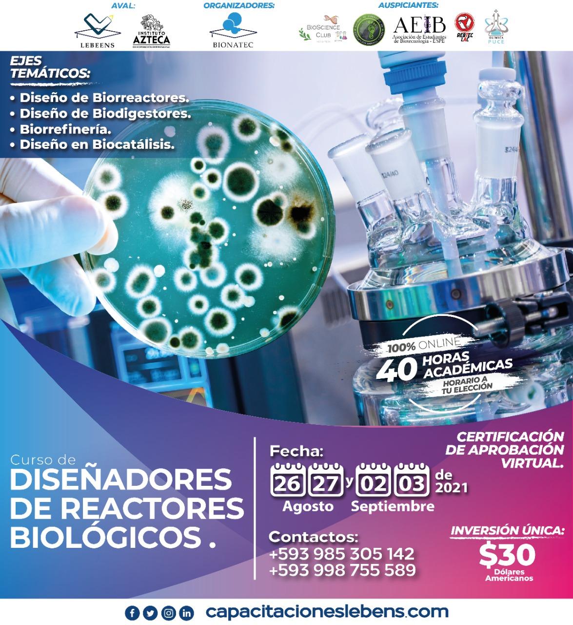 Curso de diseñadores de reactores biológivos